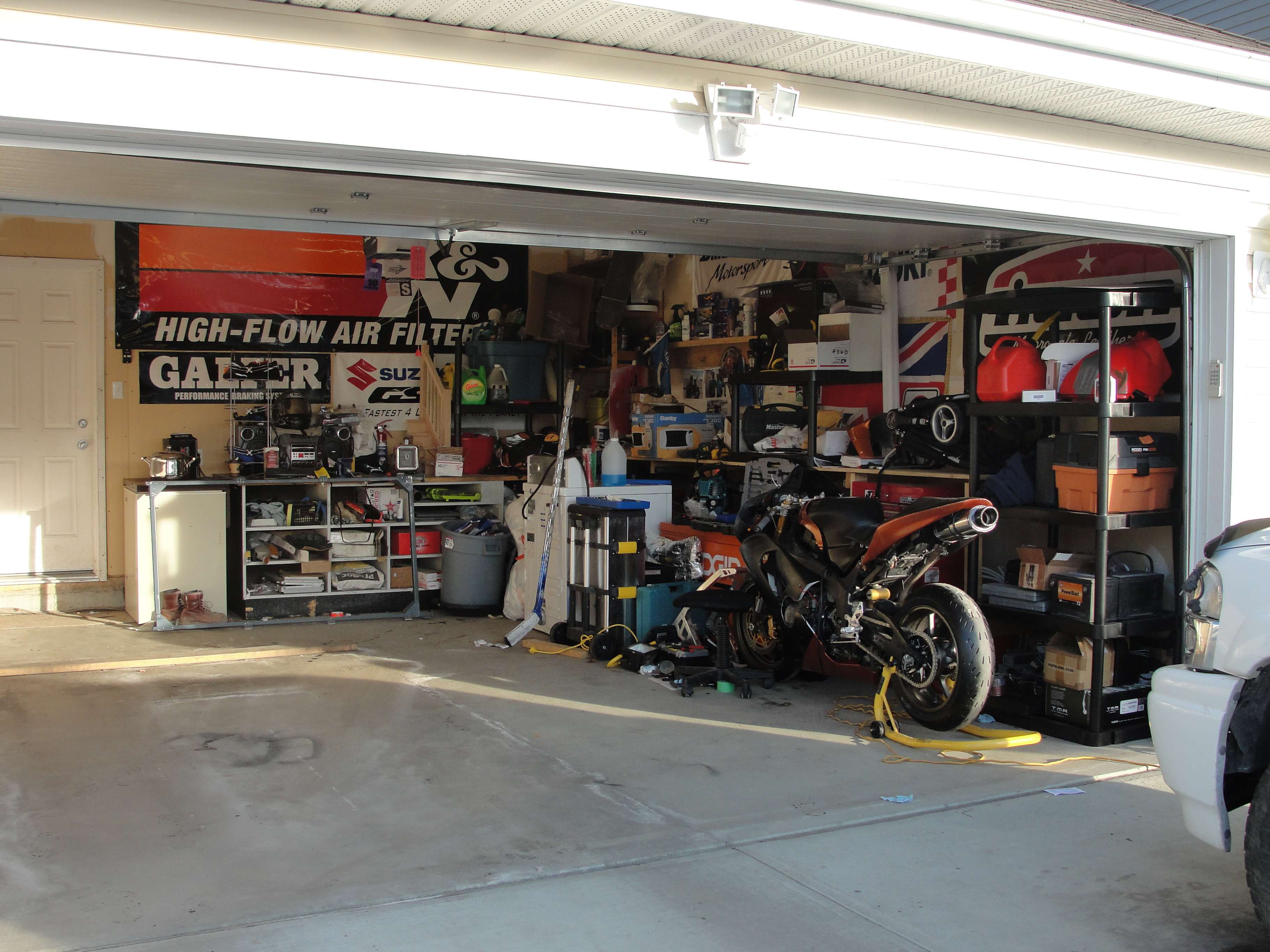 Garage Room post up your bike's garage/shop/room - page 6 - zx6r forum