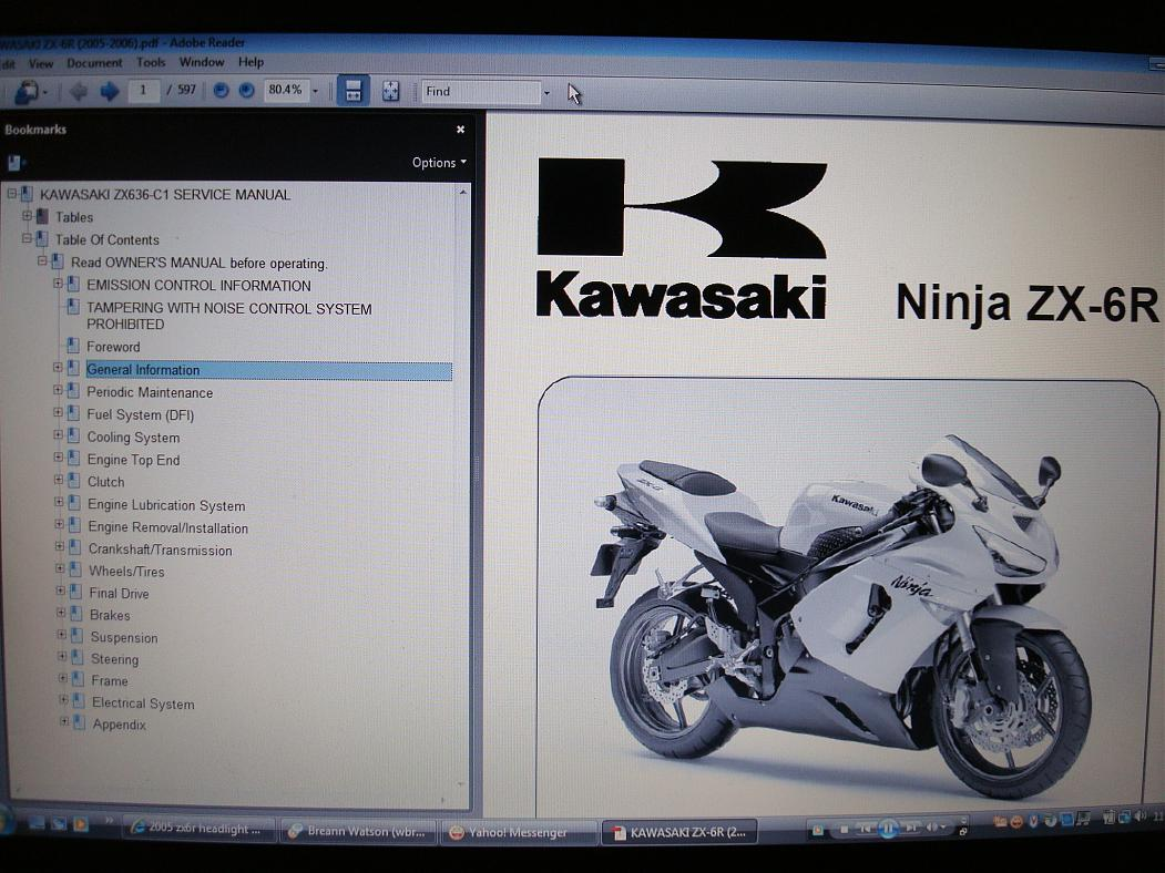 free copies of 05 06 service manual zx6r zx636 zx6r forum rh zx6r com kawasaki zx6r 2011 service manual kawasaki zx6r service manual 2012