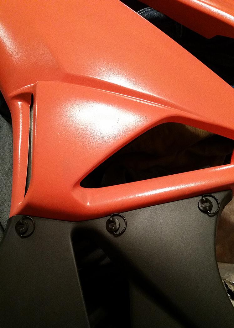 Installed Dzus Fasteners on Lower Fairings - ZX6R Forum