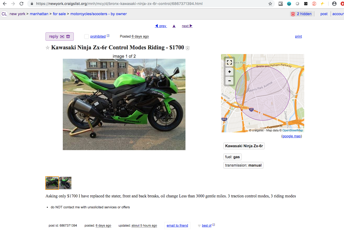 craigslist treasure - ZX6R Forum