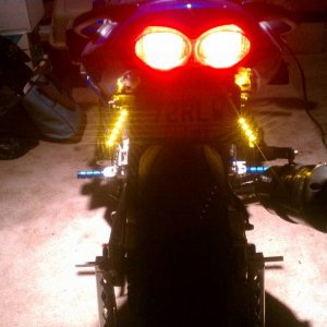 LED turn signals on the passenger pegs